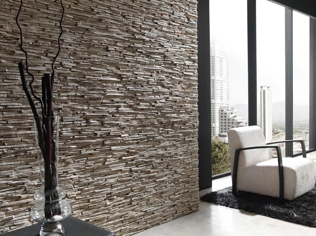 Rutz pizarra alpes sand wei for Revestimiento paredes interiores pizarra